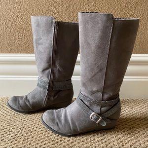 [LIKE 🆕] DSW: Grey Gia Wedge Boots (US Size 3)